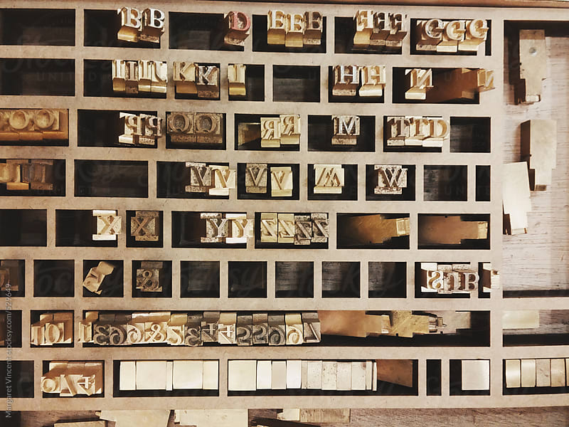 letters for typesetting - horizontal by Margaret Vincent for Stocksy United