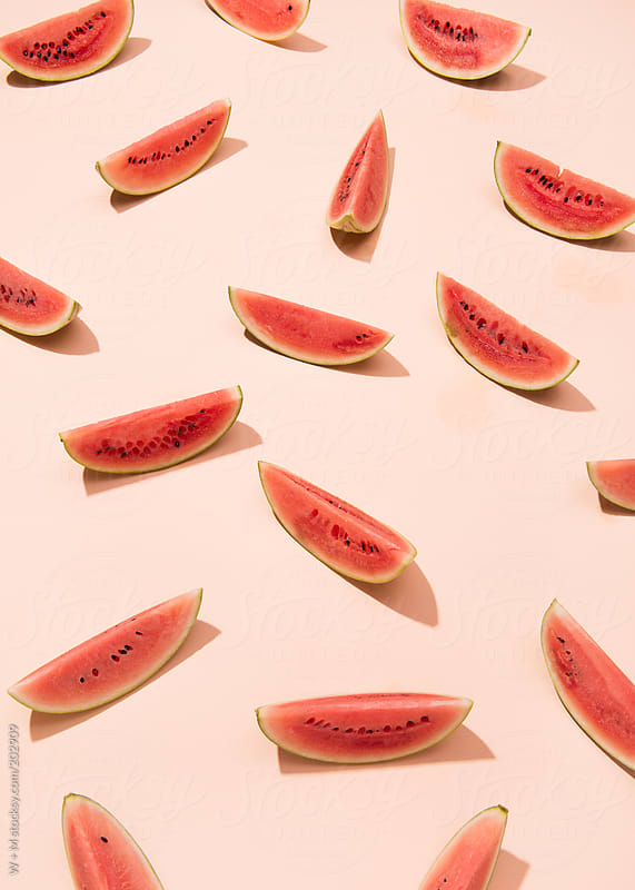 Watermelon pattern by W + M for Stocksy United