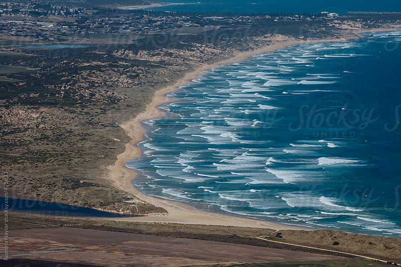 Aerial view of stunning Australian Coastline by Rowena Naylor for Stocksy United