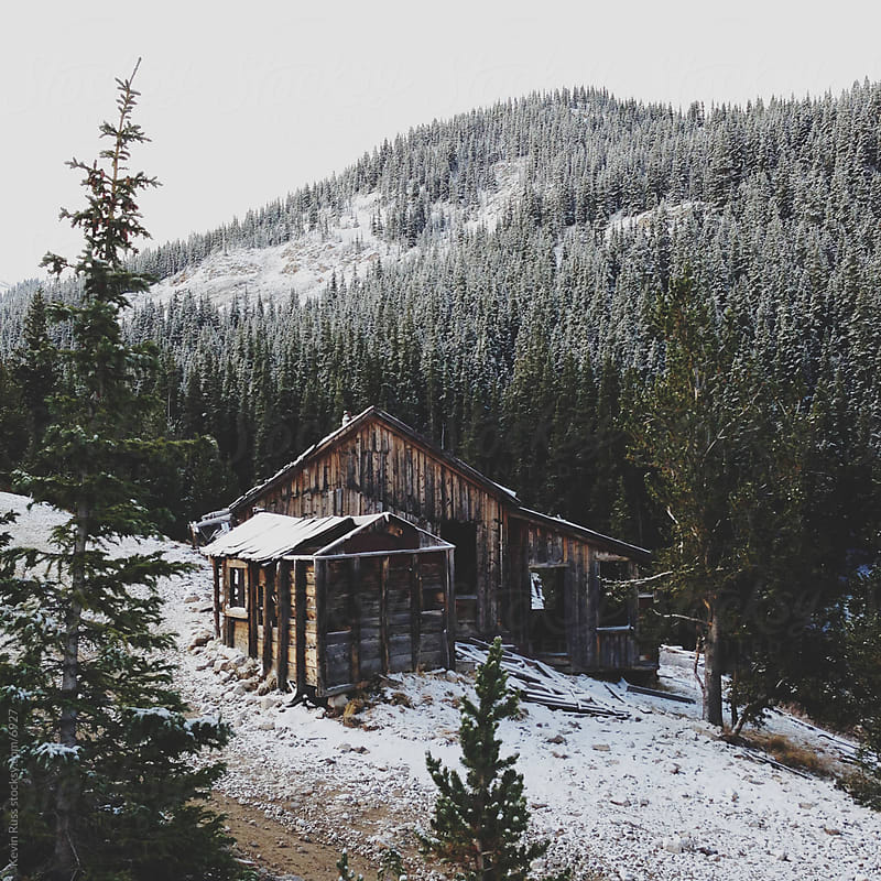 Snowy Colorado Mountain Cabin by Kevin Russ for Stocksy United