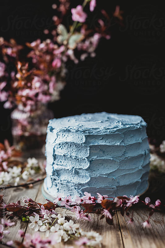Blue spring cake by Tatjana Ristanic for Stocksy United