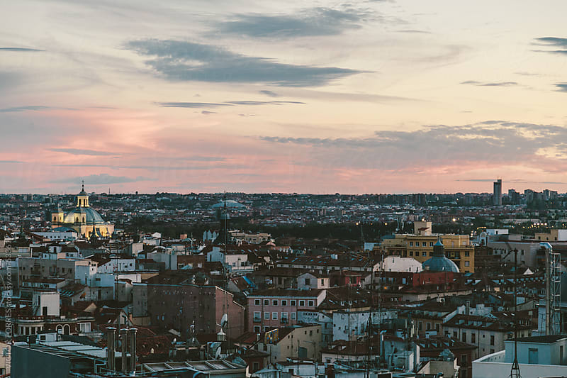 Madrid Skyline by VICTOR TORRES for Stocksy United