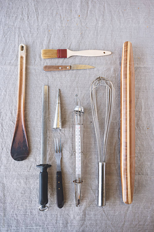 much loved kitchen utensils by Gillian Vann for Stocksy United