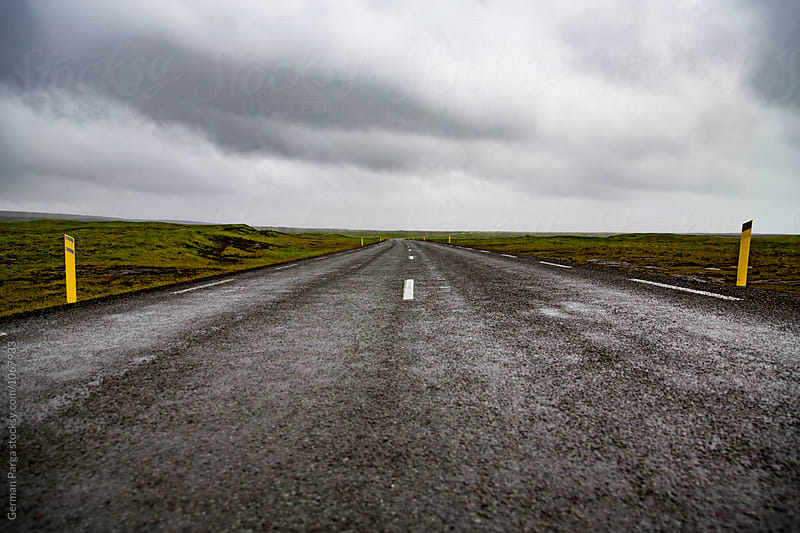 Lonely road in Iceland by German Parga for Stocksy United