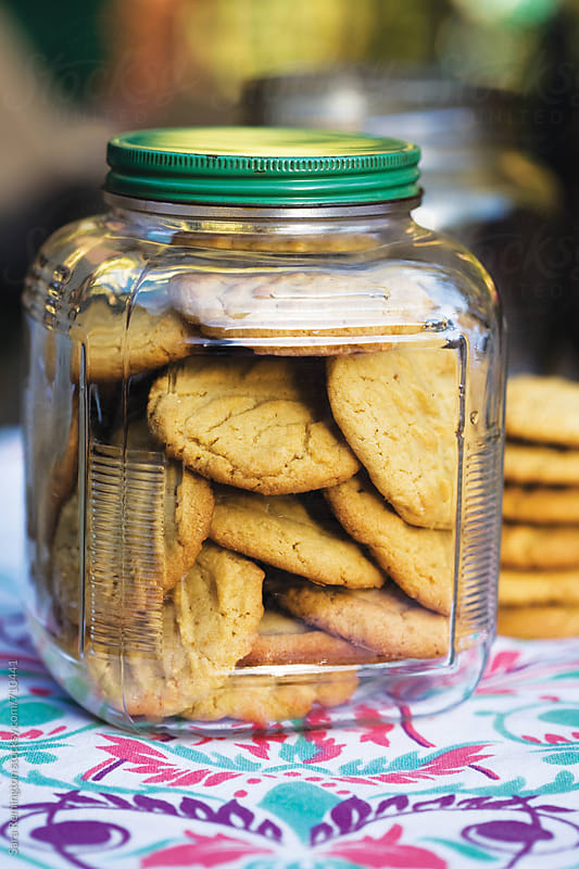 Peanut Butter Cookies in Jar by Sara Remington for Stocksy United