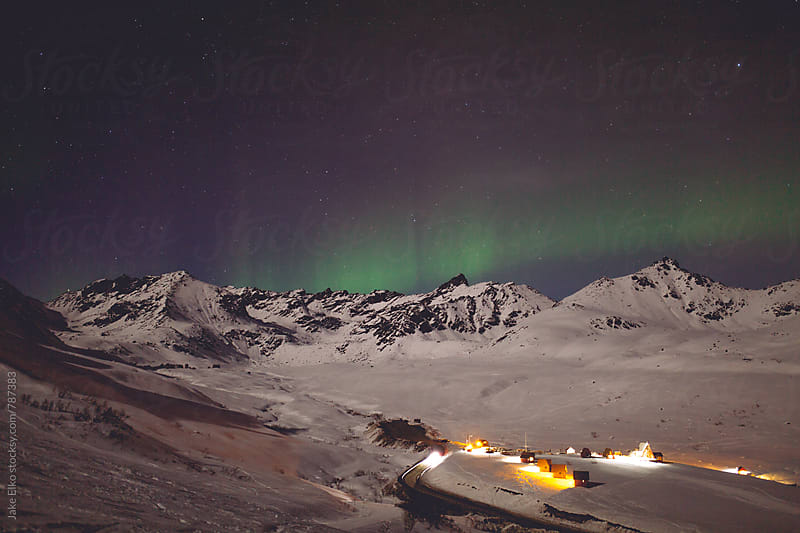 Hatcher Pass Aurora 2 by Jake Elko for Stocksy United