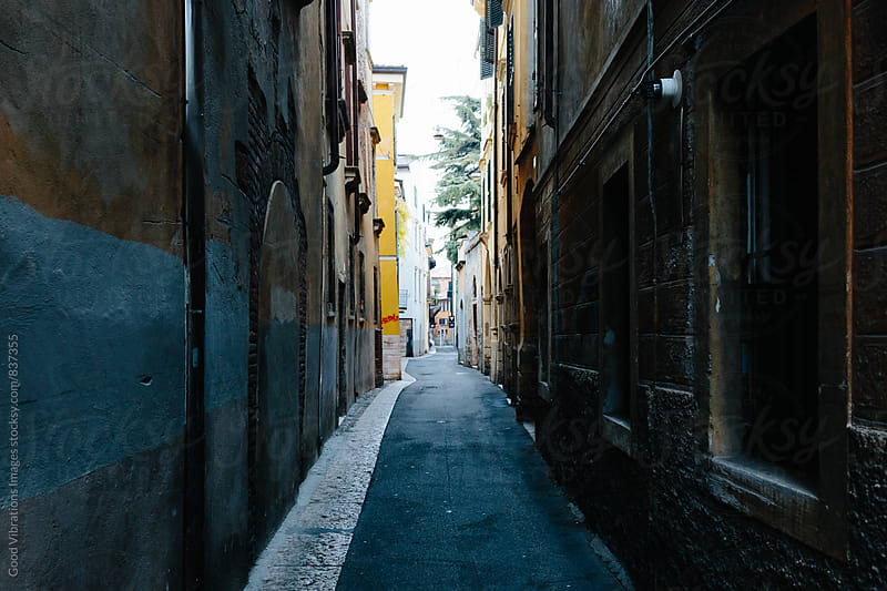 Dark Alley in Italy by Good Vibrations Images for Stocksy United