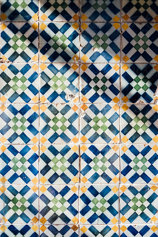 Colourful and Decorative Tiles on the Wall by Katarina Radovic for Stocksy United