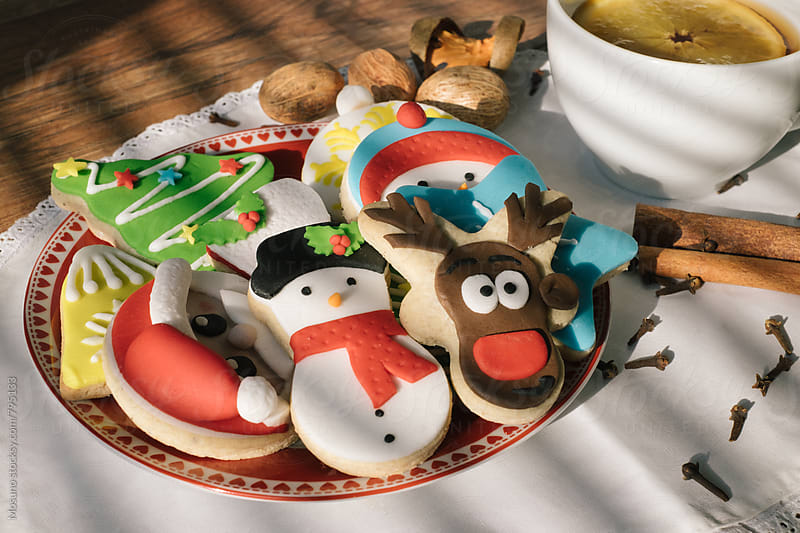 Colourful Christmas Cookies by Mosuno for Stocksy United
