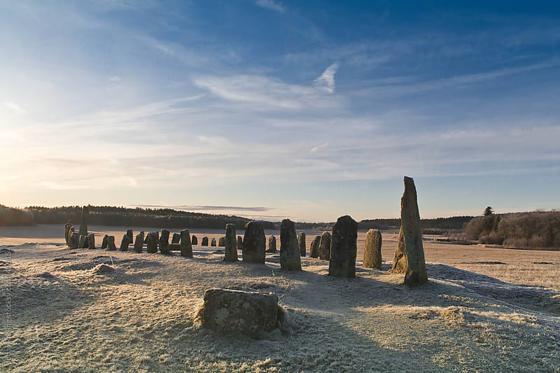 Old stone-ship in frost early morning by Jonas Räfling for Stocksy United