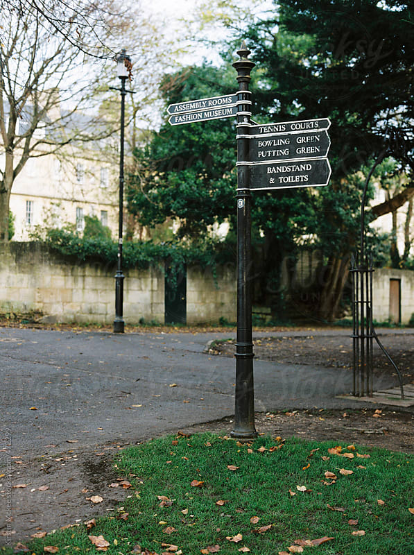 Sign post in Bath, England by Kirstin Mckee for Stocksy United