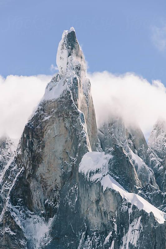 Mountain summit of Cerro Torre in Patagonia by Alejandro Moreno de Carlos for Stocksy United