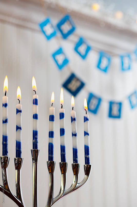 Holidays: Focus On Menorah Candles by Sean Locke for Stocksy United