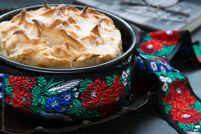 Hungarian bread and butter pudding by Aniko Lueff Takacs for Stocksy United