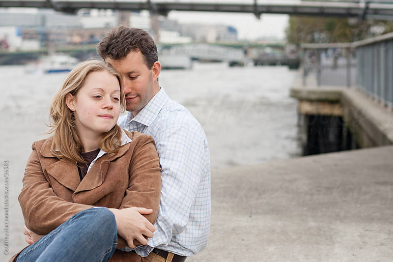 Young Couple in Love in London by Geoffrey Hammond for Stocksy United
