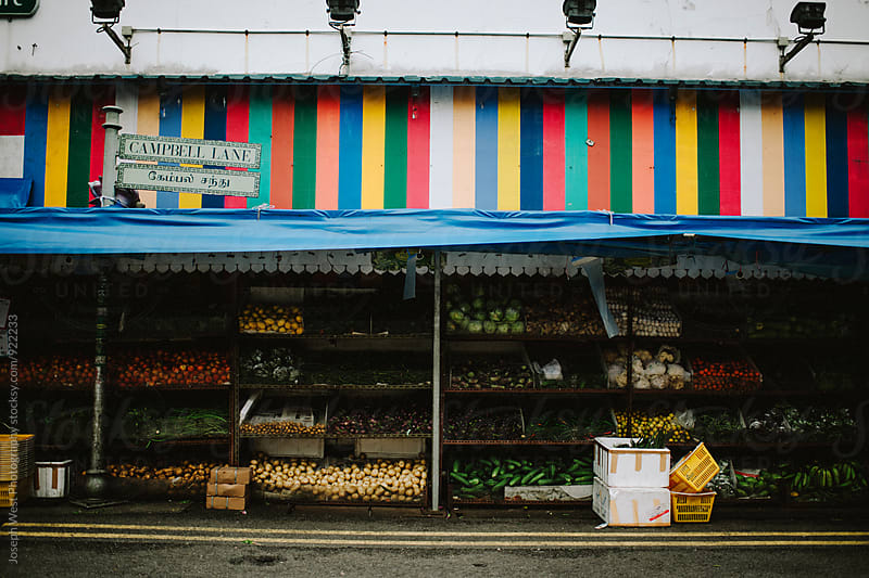 An outdoor produce market in Indonesia by Joseph West Photography for Stocksy United
