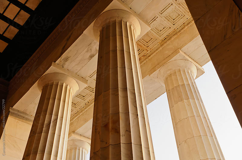 Columns At The Lincoln Memorial by Cameron Whitman for Stocksy United