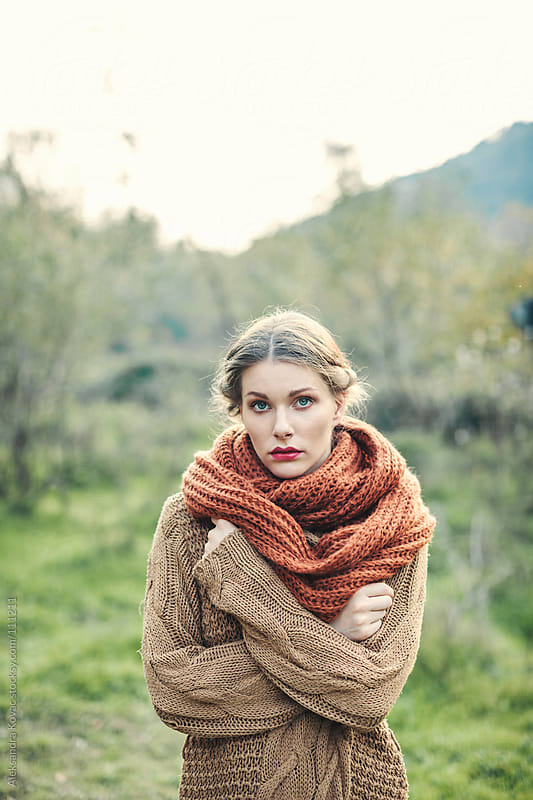 Woman in autumn nature by Aleksandra Kovac for Stocksy United