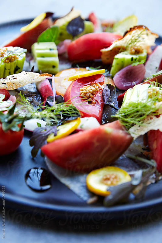Gourmet Tomato Salad by Trinette Reed for Stocksy United