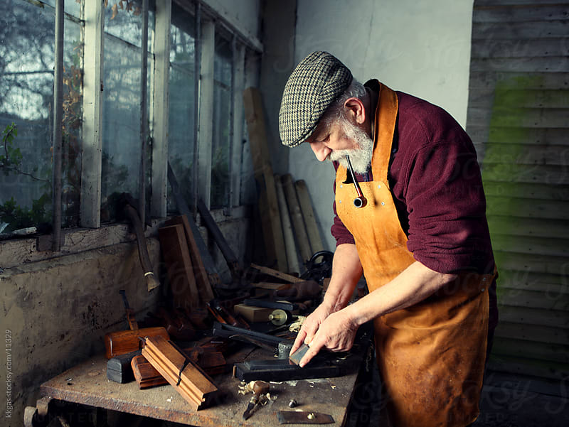 Carpenter at work. by kkgas for Stocksy United