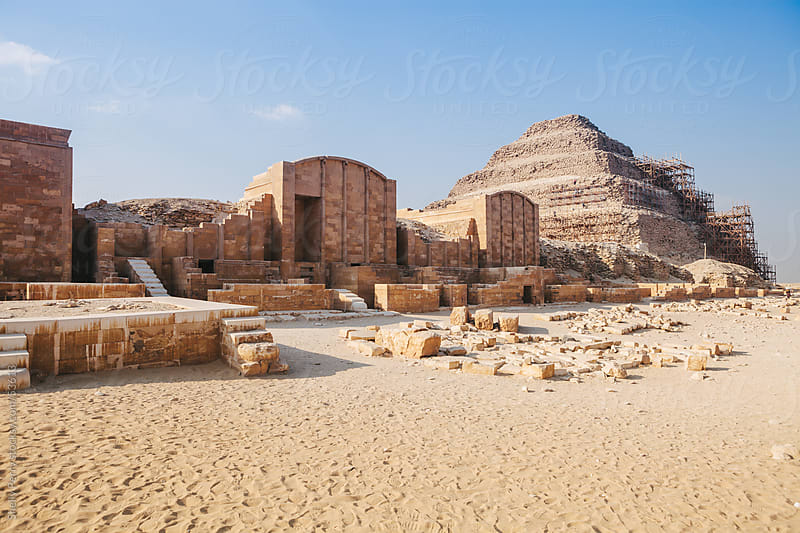 The Mortuary Complex at the Pyramid of Djoser in Egypt  by Shelly Perry for Stocksy United