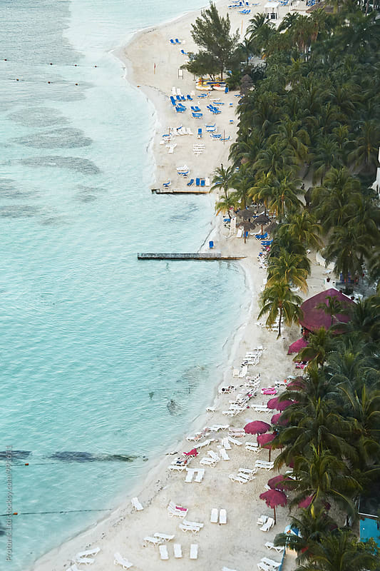 Aerial photo of Cancun beach by Per Swantesson for Stocksy United