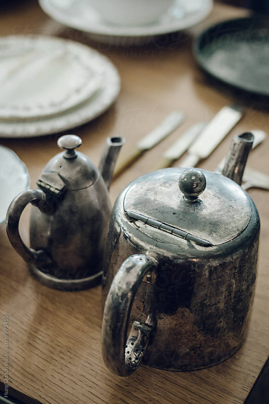 Vintage Silver Teapots by Hung Quach for Stocksy United