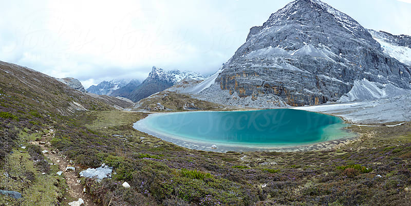 beautiful lake in the mountain by cuiyan Liu for Stocksy United