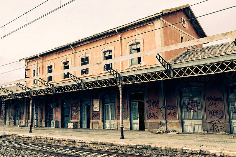 Abandoned Old Railway Station by VICTOR TORRES for Stocksy United