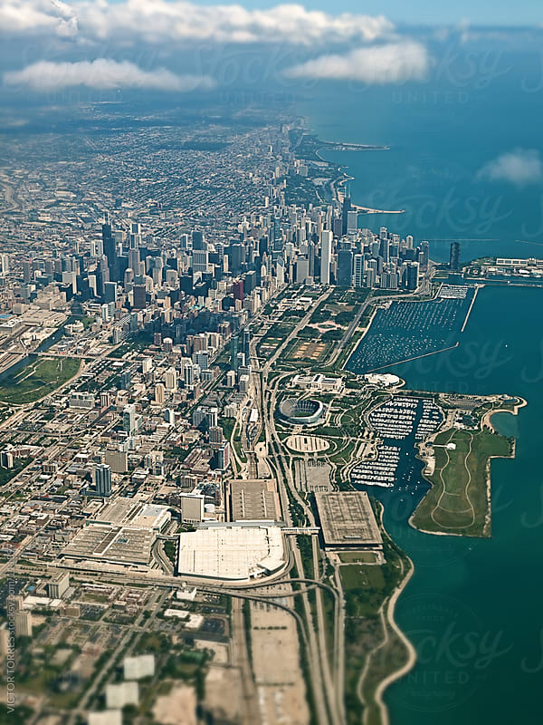Aerial View of Chicago by VICTOR TORRES for Stocksy United