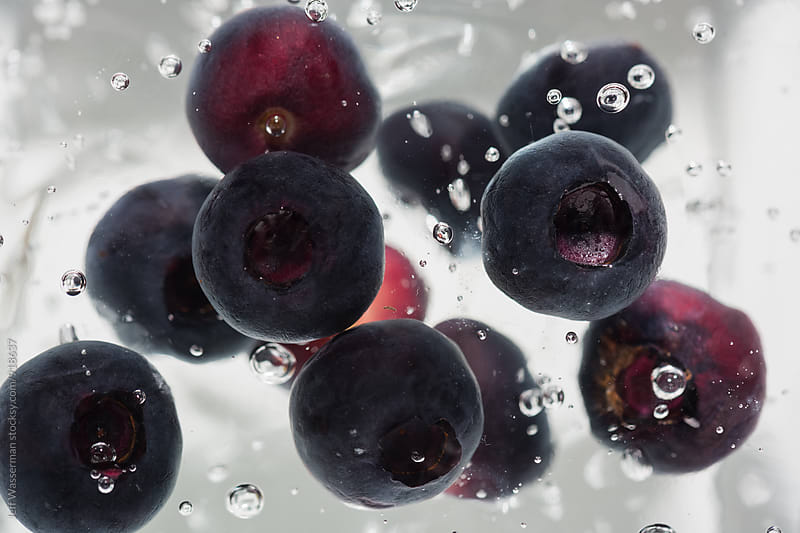 Blueberries and Bubbles by Jeff Wasserman for Stocksy United
