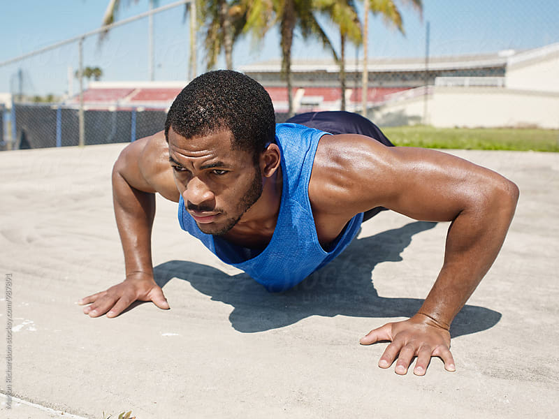 African American Runner by Marlon Richardson for Stocksy United
