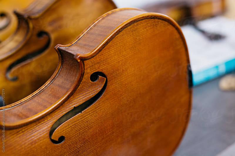 Violin bodies in a luthier shop by Gabriel (Gabi) Bucataru for Stocksy United
