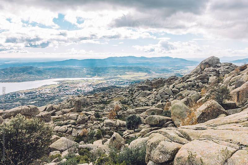 Rocky mountain landscape in Pedriza National Park, Madrid, Spain by Alejandro Moreno de Carlos for Stocksy United