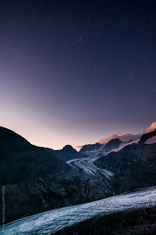 View from Chamanna Boval with at early dawn by Peter Wey for Stocksy United