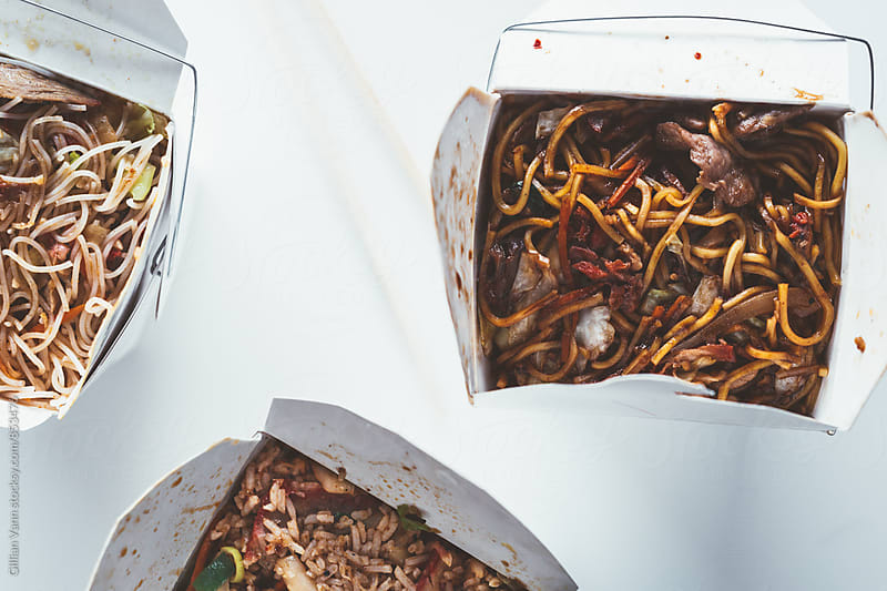 takeaway asian food by Gillian Vann for Stocksy United