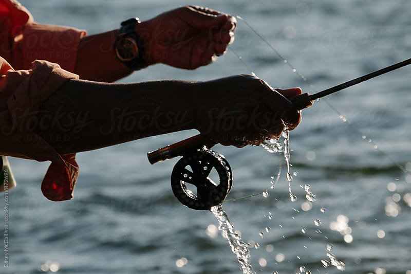 Flyfishing Closeup by Casey McCallister for Stocksy United