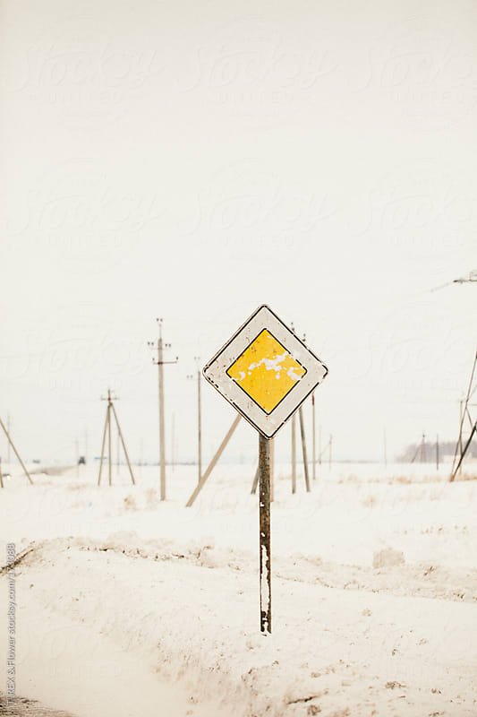 road sign by Danil Nevsky for Stocksy United