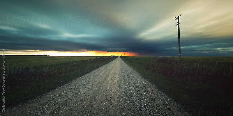 Rural Alberta country road by Christopher Troy Dowsett for Stocksy United