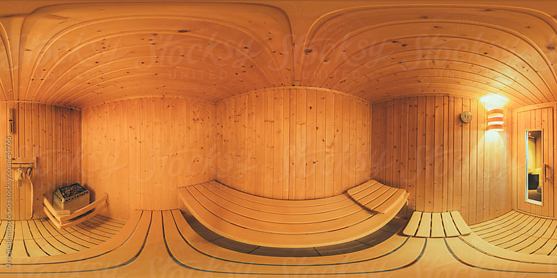 Sauna spherical view panorama by Urs Siedentop & Co for Stocksy United