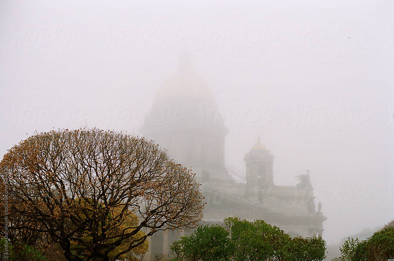 Saint Isaac's cathedral in a fog by Lyuba Burakova for Stocksy United