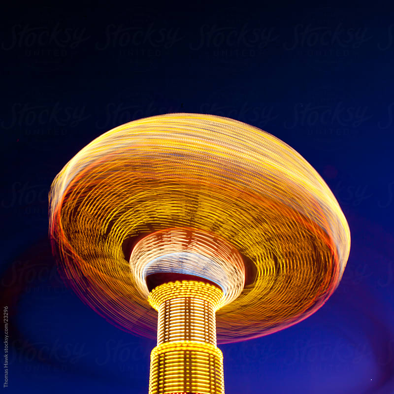 Carnival Ride Long Exposure by Thomas Hawk for Stocksy United