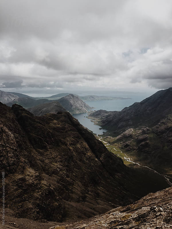 View from the Cuillin Ridge on Skye by Neil Warburton for Stocksy United