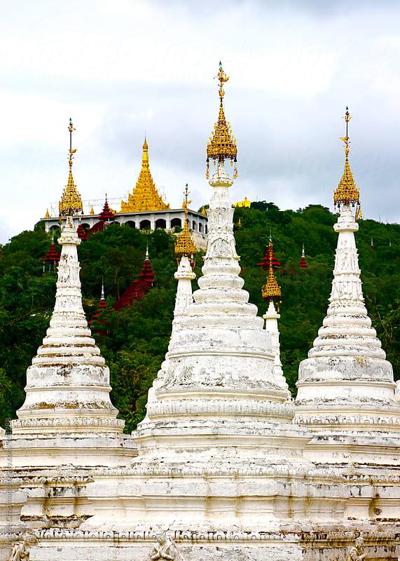 A White temple in Mandalay, Myanmar (Burma) by Jaydene Chapman for Stocksy United