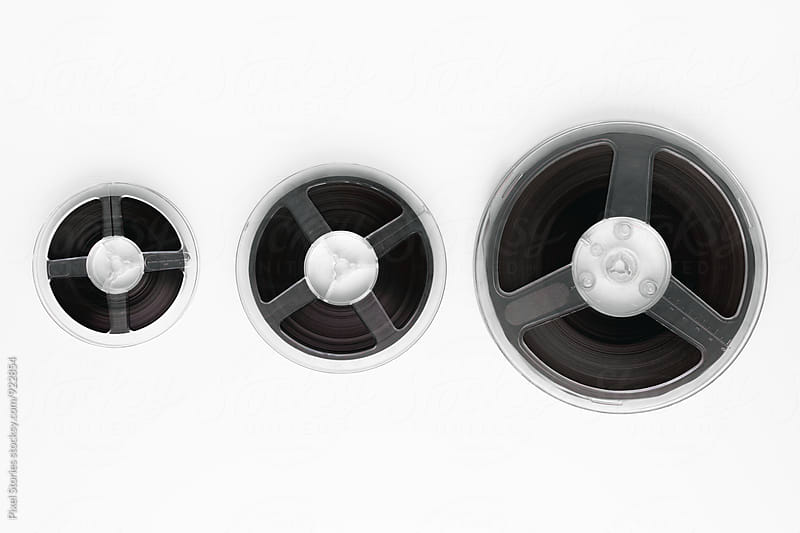 Three sizes of tape reel by Pixel Stories for Stocksy United