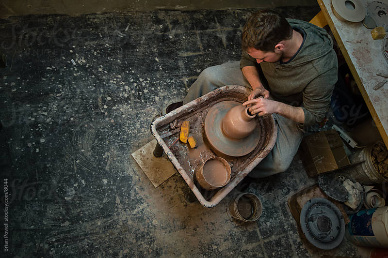 pottery studio by Brian Powell for Stocksy United