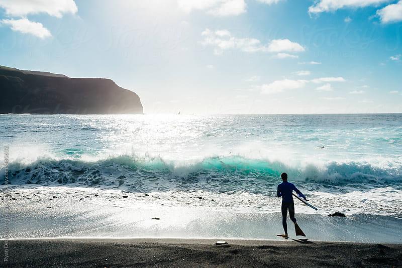 Body Boarder - São Miguel, Azores by Ryan Dearth Photography for Stocksy United