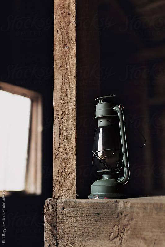Rustic lantern by Ellie Baygulov for Stocksy United