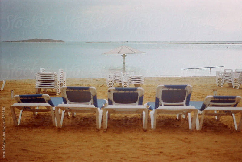 A film photo of Dead Sea beach by Anna Malgina for Stocksy United