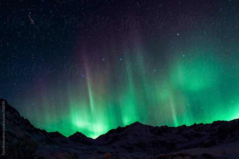 big dipper and the Northern Lights by Tara Romasanta for Stocksy United